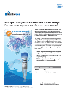 SeqCap EZ Designs - Comprehensive Cancer Design